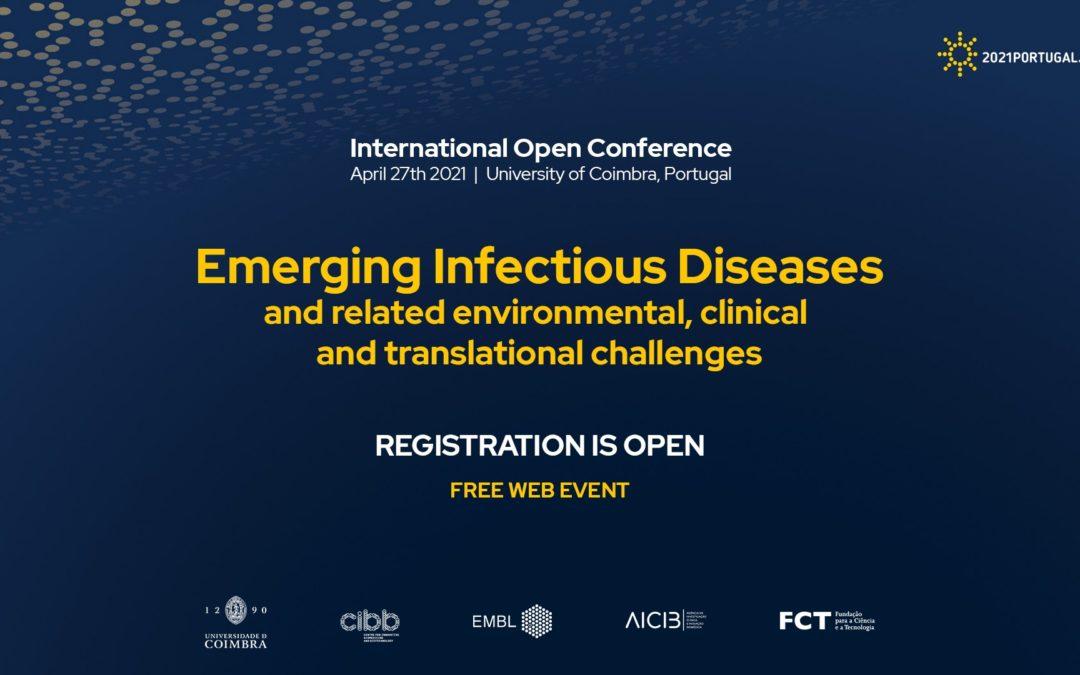 Conferência internacional dedicada a doenças infecciosas emergentes a 27 de abril