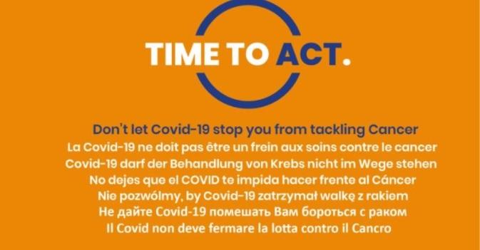 Não deixe que o Covid-19 o impeça de combater o cancro!