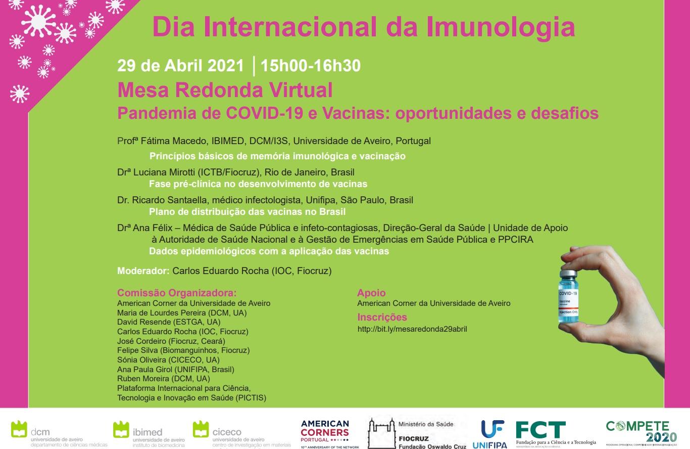 Comemore o dia Internacional da Imunologia