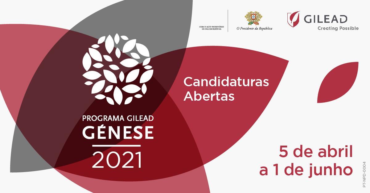 Candidaturas Abertas ao Programa Gilead GÉNESE 2021
