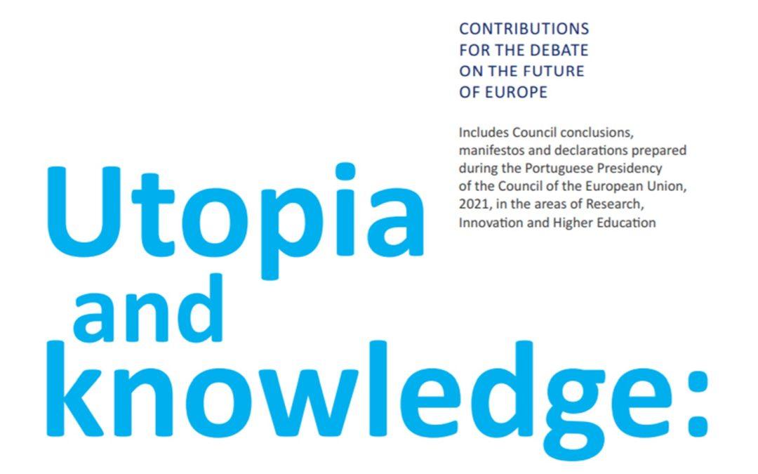 """Publicação do livro """"Utopia and Knowledge: contributions for the debate on the future of Europe"""""""