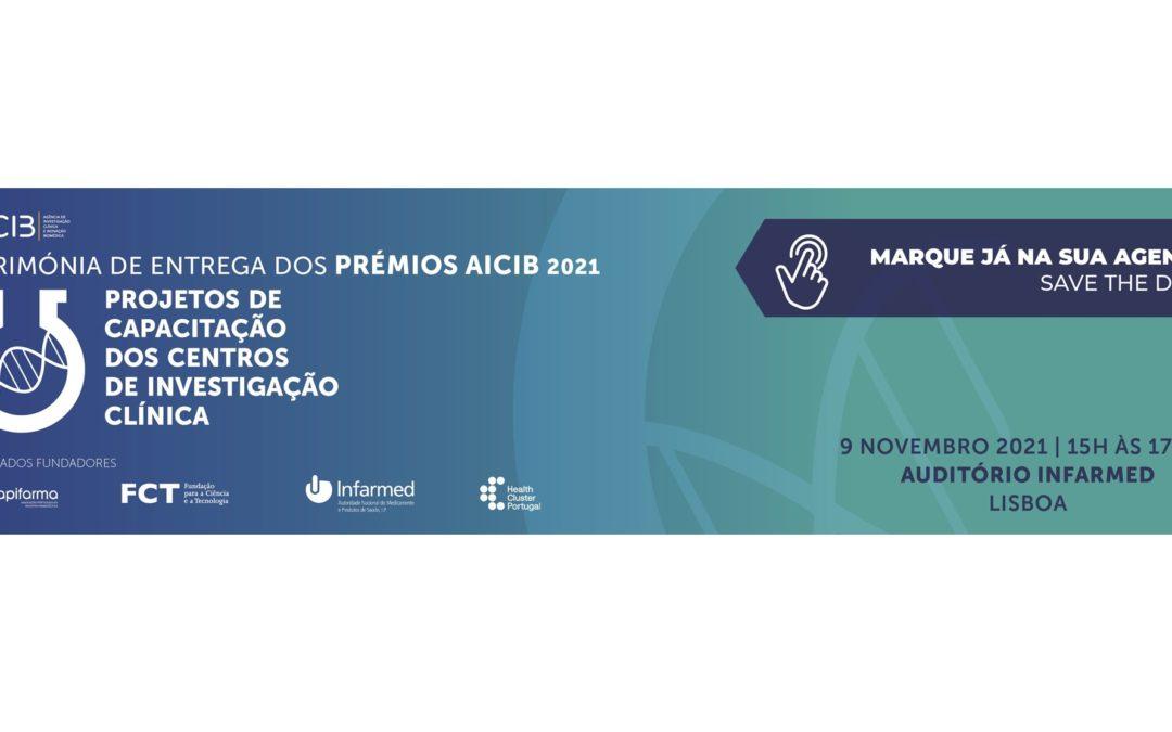 Cerimónia de entrega dos Prémios AICIB 2021